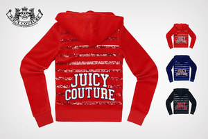 [Juicy Couture]JUICY COUTURE/橘滋 女士Logo图案天鹅绒运动卫衣_JG009014(5件)