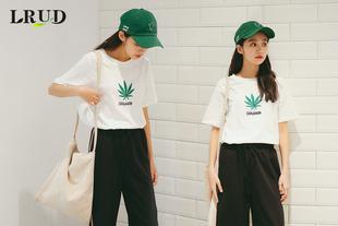 LRUD2017夏装女装新款韩版宽松打底衫上衣女白色学生套头短袖T恤