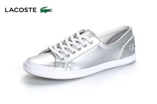LACOSTE/法国鳄鱼女鞋 低帮系带皮质休闲运动单鞋LANCELL