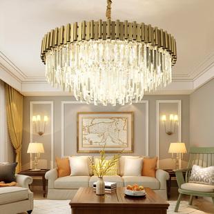 后现代水晶吊灯简约现代轻奢客厅灯