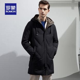 Romon/罗蒙羽绒服男商务休闲中长款