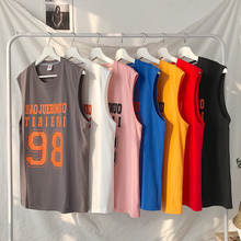 Vest men's cartoon sleeveless T-shirt men's youth Korean version loose waistband summer men's wear