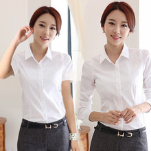 Spring new long sleeve shirt female ol Korean version ironless professional
