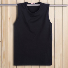 Summer large t-shirt men's sleeveless T-shirt wide shoulder tank top men's sports basketball