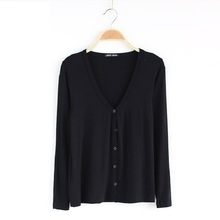 Modal cardigan long sleeve thin coat T-shirt sunscreen air conditioning shirt